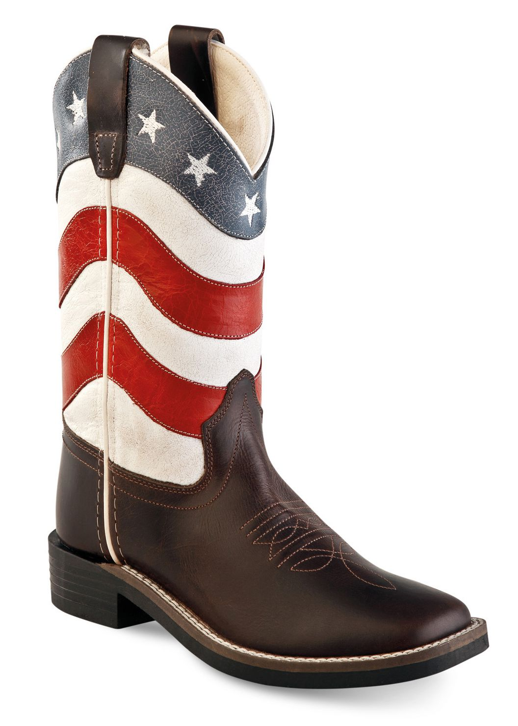 aa5d0027daf Dětské westernové boty model USA Flag empty